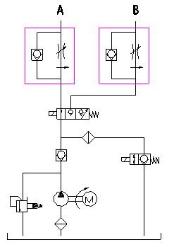 hydraulic power pack circuit pdf